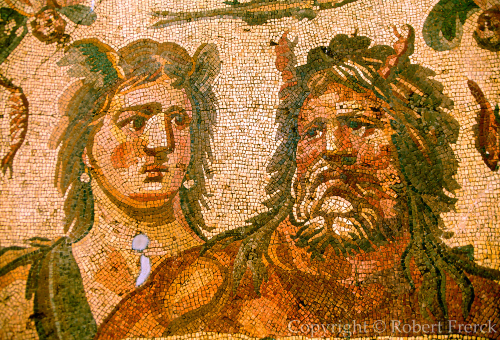 TURKEY, ROMAN CULTURE mosaic of Oceanus and Thetis