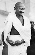 Mohondas Karamchand Gandhi  (1869-1948), known as Mahatma (Great Soul). Indian Nationalist leader.