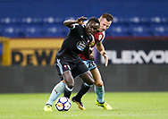 Celta Vigo's Pione Sisto shields the ball from Burnley's Phillip Bardsley during the Pre-Season Friendly match between Burnley and Celta Vigo at Turf Moor, Burnley, England on 1 August 2017. Photo by Paul Thompson.