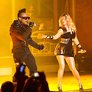 "COLUMBIA, MD - June 9th, 2011: apl.de.ap and Fegie of the Grammy Award-wining hip-hop group The Black Eyed Peas perform at Merriweather Post Pavilion in Columbia, MD. The group recently released the single ""Don't Stop The Party"" from their sixth studio album, The Beginning. (Photo by Kyle Gustafson/For The Washington Post)"