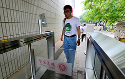July 4, 2018 - Beijing, Beijing, China - Beijing, CHINA-Students have their faces scanned before they enter Peking University in Beijing, China. (Credit Image: © SIPA Asia via ZUMA Wire)