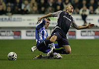 Photo: Dave Howarth.<br /> Wigan Athletic v Bolton Wanderers. Carling Cup.<br /> 20/12/2005. Stelios Giannakopoulas and ??