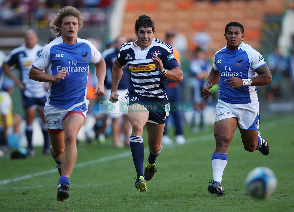 Jaque Fourie of the Stormers and Nick Cummins of the Force give chase during the Super Rugby (Super 15) fixture between DHL Stormers and the The Force played at DHL Newlands in Cape Town, South Africa on 26 March 2011. Photo by Jacques Rossouw/SPORTZPICS