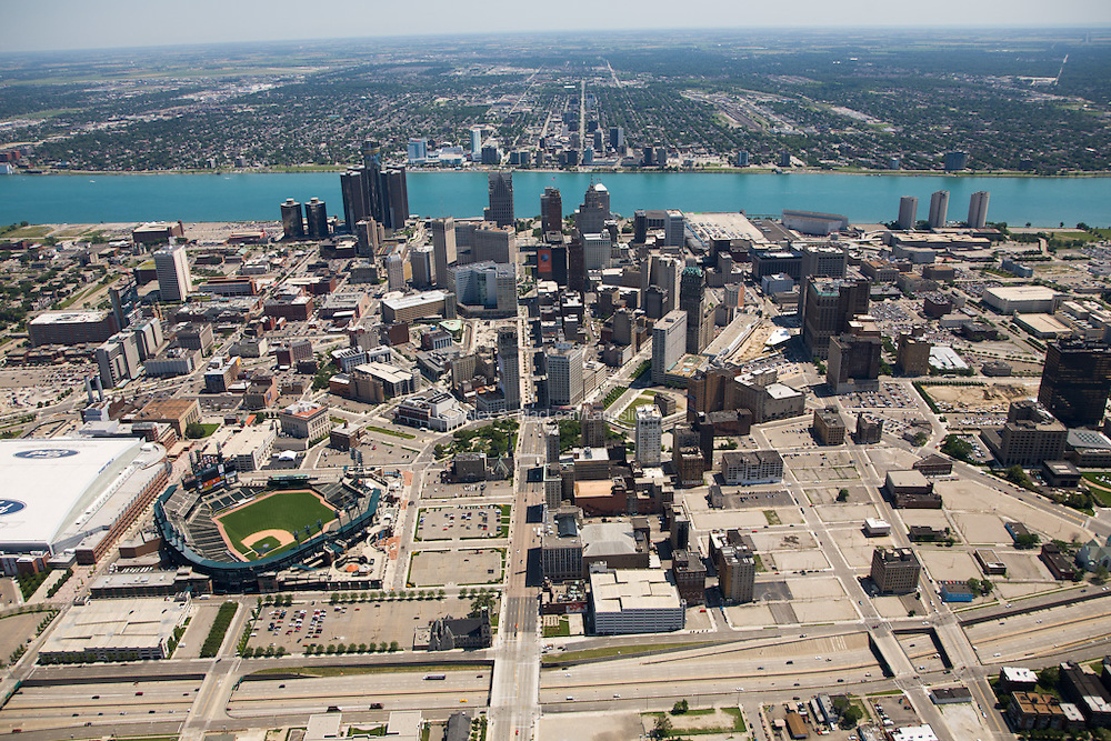 Comerica Park to downtown