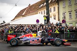 01.12.2012, Graz, AUT, Formel 1 Show Run in Graz im Bild Sebastian Vettel mit dem RB8 // during the Formel 1 Show Run in Graz, Austria on 2012/12/01. EXPA Pictures © 2012, PhotoCredit: EXPA/ M. Kuhnke
