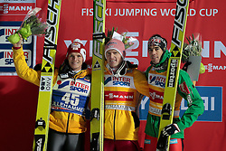 24.11.2012, Lysgards Schanze, Lillehammer, NOR, FIS Weltcup, Ski Sprung, Herren, im Bild Podium with Morgenstern, Freund and Bardal during the mens competition of FIS Ski Jumping Worldcup at the Lysgardsbakkene Ski Jumping Arena, Lillehammer, Norway on 2012/11/23. EXPA Pictures © 2012, PhotoCredit: ..EXPA/ Federico Modica