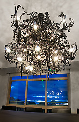 Black ornate modern chandelier