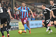 Luke Williams of Scunthorpe United during the Sky Bet League 1 match between Scunthorpe United and Barnsley at Glanford Park, Scunthorpe, England on 31 October 2015. Photo by Ian Lyall.