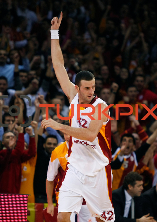 Galatasaray's Boris Savovic during their Turkish Airlines Euroleague Basketball Top 16 Group E Game 2 match Galatasaray between Olympiacos at Abdi Ipekci Arena in Istanbul, Turkey, Thursday, January 26, 2012. Photo by TURKPIX