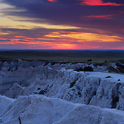 The Pinnacles is a part of the rugged badlands of Badlands National Park, SD.