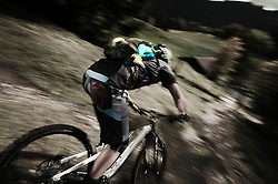 Man mountain biking, Garmisch-Partenkirchen, Germany