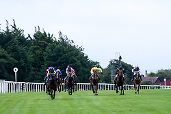 Island Flame ridden by Ray Dawson trained by Brian Barr, Just Right ridden by Imogen Mathias trained by John Flint, Pike Corner Cross ridden by Rossa Ryan trained by David Evans, Thunder Flash ridden by Swan Levey trained by Ian Williams, Big Jimbo ridden by Hector Crouch trained by Gary Moore, Birkie Queen ridden by Liam Keniry trained by J S Moore, Clog Na Fola ridden by Ciaran McKee trained by John O'Shea, Lady Sarah ridden by Thore Hammer Hansen trained by Tony Carroll, Rare Glam ridden by Charles Bishop trained by Joseph Tuite, Voice Of Dubawi ridden by Shane Kelly trained by Richard Hughes in the Best Free Tips At valuerater.co.uk Classified Stakes (Div II) - Mandatory by-line: Robbie Stephenson/JMP - 19/08/2020 - HORSE RACING - Bath Racecourse - Bath, England - Bath Races