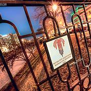 Kansas City's sister city designations on the pedestrian bridge