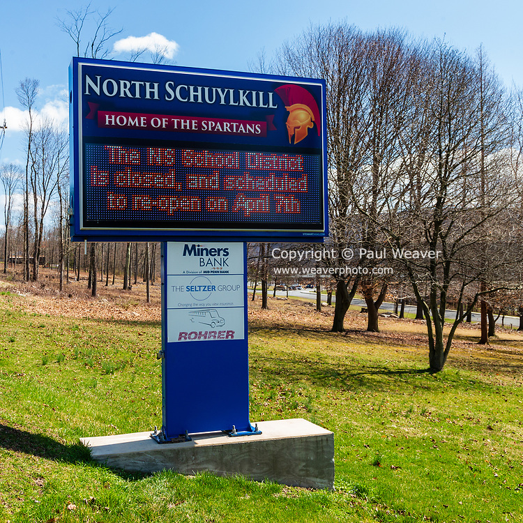 March 27, 2020 -- The North Schuylkill School District remains closed due to the COVID-19 pandemic.