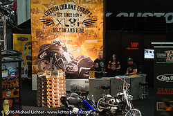 Custom Chrome Europe display in Hall 10 with its all custom focus at the Intermot Motorcycle Trade Fair. Cologne, Germany. Thursday October 6, 2016. Photography ©2016 Michael Lichter.