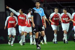03-04-2010 VOETBAL: AZ - FC UTRECHT: ALKMAAR<br /> FC Utrecht verliest met 2-0 van AZ / Een balende Jan Wuytens als Mounir El Hamdaoui de 2-0 scoort<br /> ©2010-WWW.FOTOHOOGENDOORN.NL