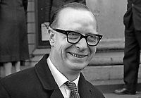 Gerry Fitt, Republican Labour Party, MP, Dock constituency, Belfast, N Ireland Parliament, Stormont. March 1966, Fitt_Gerry_196503000013<br />