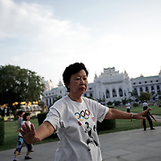 May 09, 2013 - Yangon, Myanmar: Local residents exercise in a public park, in central Yangon, during the early hours of the day. (Paulo Nunes dos Santos/Polaris)