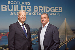 Lord Smith, left, chairman of Scottish Enterprise, with Steve Dunlop, CEO, at the organisation's head office in Waterloo Street, Glasgow. Pic: Terry Murden @edinburghelitemedia