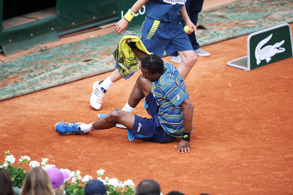 Paris, France. Roland Garros. May 29th 2013.<br /> French player Gael MONFILS against Ernests GULBIS