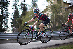Tiffany Cromwell (Canyon//SRAM Cycling Team) corners in the third, short lap of the Trofeo Alfredo Binda - a 123.3km road race from Gavirate to Cittiglio on March 20, 2016 in Varese, Italy.