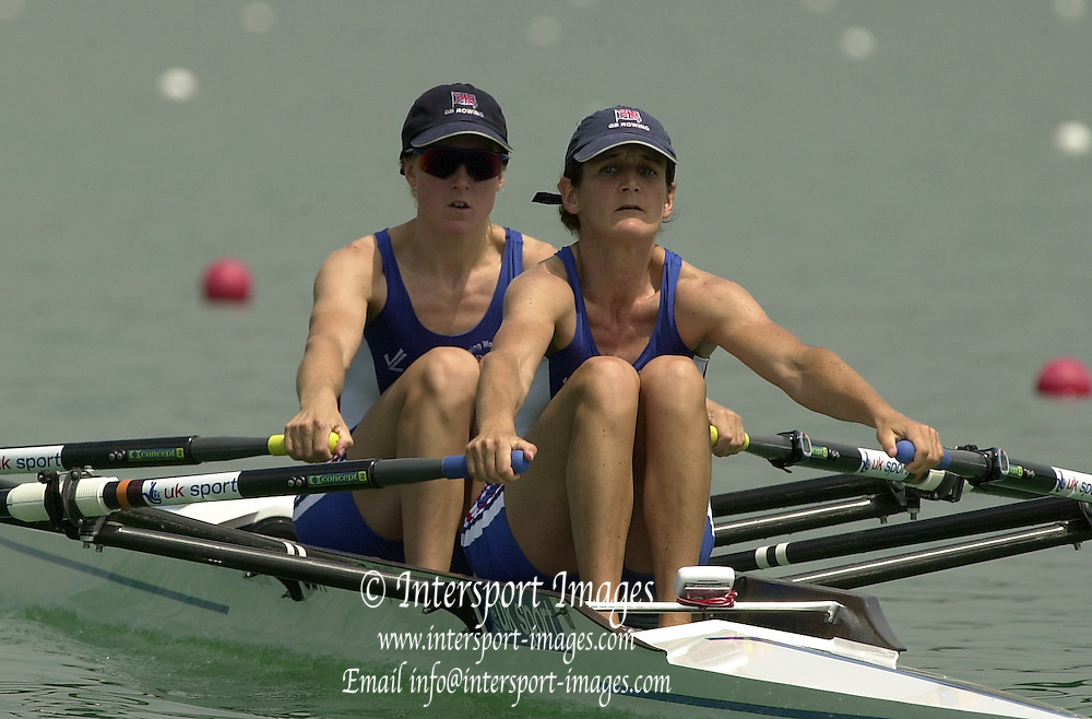 2003 - FISA World Cup Rowing Milan Italy.30/05/2003  - Photo Peter Spurrier.GBR LW2X(B) Helen Casey and Tracy Langlands [Mandatory Credit: Peter Spurrier:Intersport Images]
