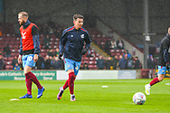 Kevin van Veen of Scunthorpe United (10) warming up during the EFL Sky Bet League 1 match between Scunthorpe United and Bradford City at Glanford Park, Scunthorpe, England on 27 April 2019.