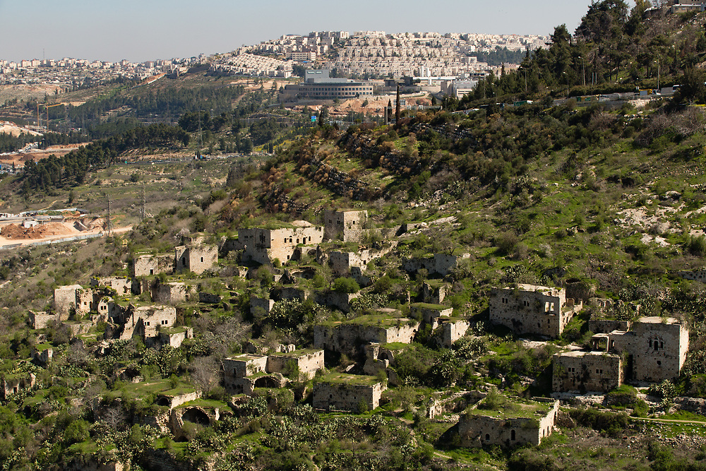 A general view of abandoned buildings in the Palestinian village of Lifta which was abandoned during fighting in the 1948 Arab-Israeli war, on the outskirts of Jerusalem, on March 8, 2017.