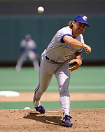 KANSAS CITY - 1992: Dave Stieb of the Toronto Blue Jays pitches during an MLB game against the Kansas City Royals at Kaufmann Stadium in Kansas City, Missouri during the 1992 season. (Photo by Ron Vesely/MLB Photos via Getty Images))  *** Local Caption *** Dave Stieb