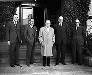 15/10/1952<br /> 10/15/1952<br /> 15 October 1952<br /> P.J. Carroll and Co. Ltd tobacco factory, Dundalk. Visit of Sean MacEntee, Minister for Finance to the Factory.  Picture shows (l-r): Mr. L. Steen, President Dundalk Chamber of Commerce; Mr. Kevin McCourt, Director; Minister MacEntee;  Mr. Walther J. Carroll, Director and Mr. M. Kerley, Factory Manager.