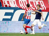 Atletico de Madrid's Gabi against Stromsgodset's Glenn Andersen during UEFA Europa League third qualifying round match. July 28, 2011. (ALTERPHOTOS/Alvaro Hernandez)