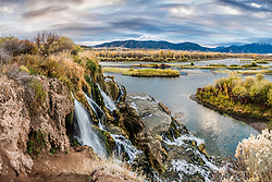 Autumn at Fall Creek Falls in Swan Valley Idaho.<br /> <br /> This is a very large file so can be printed as large as 6 foot by 4 foot tall at 150dpi