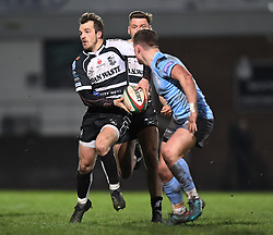 Dale Stuckey of Pontypridd <br /> <br /> Photographer Mike Jones/Replay Images<br /> <br /> Principality Premiership - Neath v Pontypridd - Friday 16th March 2018 - The Gnoll Neath<br /> <br /> World Copyright © Replay Images . All rights reserved. info@replayimages.co.uk - http://replayimages.co.uk