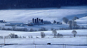 Snow and Winter in rural PA, farm, Dauphin Co., PA