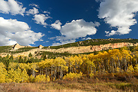The fall colors were at their peak in this meadow above Little Horn Canyon.