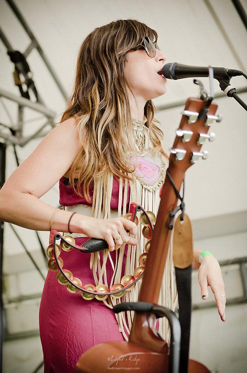 Nicole Atkins performing at the 2011 Appel Farm Arts & Music Festival in Elmer, NJ.