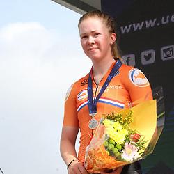 26-08-2020: Wielrennen: EK wielrennen: Plouay<br /> Lonneke Uneken (Netherlands) zilver26-08-2020: Wielrennen: EK wielrennen: Plouay