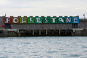 Patrick Tuttofuoco's Folkestone letters sculpture displayed on Folkestone Harbour Arm originally as part of the Triennial Arts Festival in 2008, which has now become part of the Folkestone Artworks, a permanent art collection in the town.