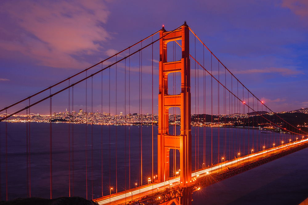Golden Gate Bridge, Designed byJoseph Strauss, Irving Morrow, and Charles Ellis, San Francisco, California, USA