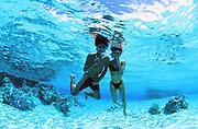 Snorkeling, Rangiroa, French Polynesia