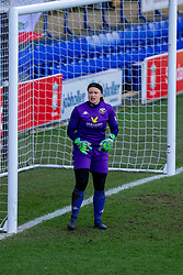 BIRKENHEAD, ENGLAND - Easter Sunday, April 4, 2021: Lewes' goalkeeper Tatiana Saunders during the FA Women's Championship game between Liverpool FC Women and Lewes FC Women at Prenton Park. (Pic by David Rawcliffe/Propaganda)