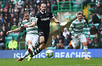 16/08/14 SCOTTISH PREMIERSHIP<br /> CELTIC v DUNDEE UTD<br /> CELTIC PARK - GLASGOW<br /> Celtic's Stefan Johanssen makes it 3-0 during the first-half