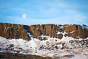 Moon setting near Cascade Montana.