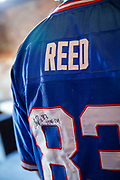 SHOT 12/10/17 1:05:23 PM - Former Buffalo Bills wide receiver and Hall of Fame player Andre Reed signs autographs and meets with fans at LoDo's Bar and Grill in Denver, Co. as the Buffalo Bills played the Indianapolis Colts that Sunday. Reed played wide receiver in the National Football League for 16 seasons, 15 with the Buffalo Bills and one with the Washington Redskins. (Photo by Marc Piscotty / © 2017)