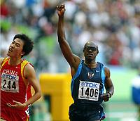 Athletics, 30. august 2003, VM Paris, World Championship in Athletics,  Allen Johnson, USA og Xiang Liu, Kina