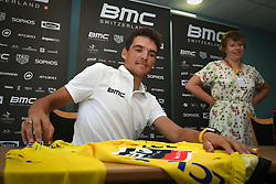 July 16, 2018 - Aix-Les-Bains, FRANCE - Belgian Greg Van Avermaet of BMC Racing talks to the press during the first rest day in the 105th edition of the Tour de France cycling race, in Aix-les-Bains, France, Monday 16 July 2018. This year's Tour de France takes place from July 7th to July 29th. BELGA PHOTO DAVID STOCKMAN (Credit Image: © David Stockman/Belga via ZUMA Press)