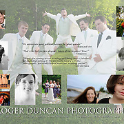 Inside Design of trifold for Roger Duncan Photography