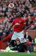 Aaron Wan-Bissaka of Manchester United controls the ball during the Premier League match at Old Trafford, Manchester. Picture date: 8th March 2020. Picture credit should read: Darren Staples/Sportimage