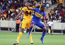 Mpho Matsi and Willard Katsande in the Absa Premiership match between Cape Town City and Kaizer Chiefs at the Cape Town Stadium on 13 September 2017.