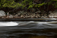 Brian Crowl fly fishing the Sacandaga River in the Adirondacks, New York